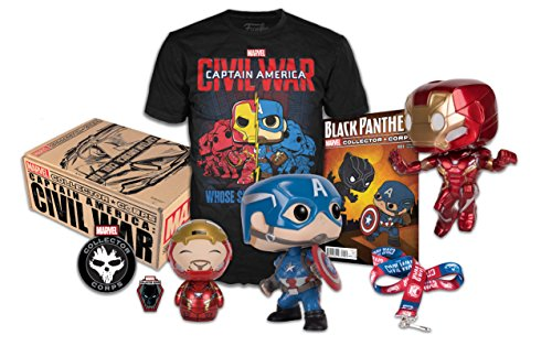Marvel Collector Corps Captain America Civil War Box - XL Shirt