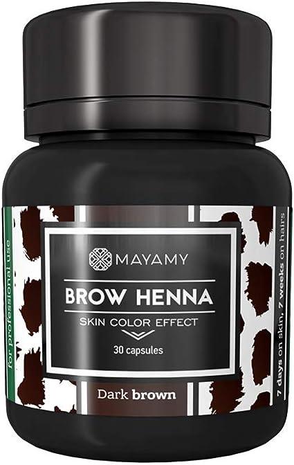 Tinte de cejas de Henna, hasta 6 semanas de duración, para ...