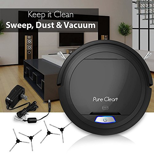 PureClean Automatic Cleaner - Auto Home Cleaning Carpet Bot Self Detects - HEPA Filter Pet Hair PUCRC26B