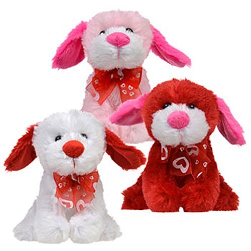 Fluffy little pups will melt their hearts! Valentines Day Plush Puppies Pals Stuffed Animals! (Set of 3)