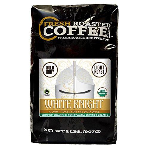 Organic Milky Knight Light Roast Coffee, Artisan Blend, Fair Trade, Whole Bean Bag, Fresh Roasted Coffee LLC. (2 LB.)