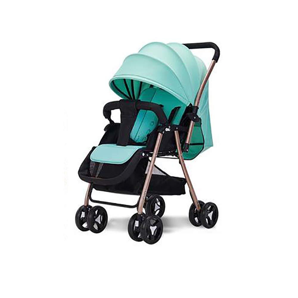SSRSベビーカー軽量折りたたみ缶リクライニング超軽量小さな子供赤ちゃん子供ベビーカー夏ポータブルbb車  sky blue B07R8HTFWX
