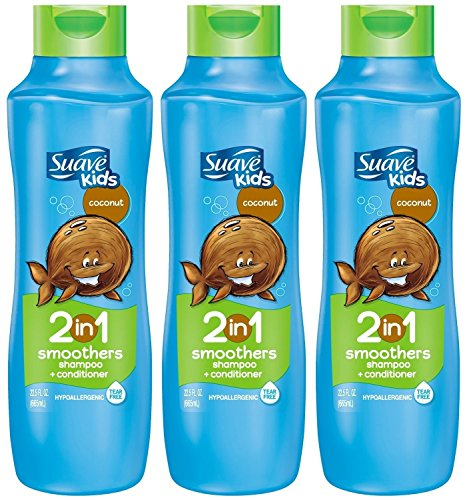 Suave Kids 2 in 1 Shampoo + Conditioner, Coconut Smoothers, 22.5 Oz (Pack of (Hair Smoothers 2in 1 Shampoo)