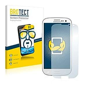 2x BROTECT HD-Clear Protector Pantalla Samsung GT-I9305 Película Protectora – Transparente, Anti-Huellas