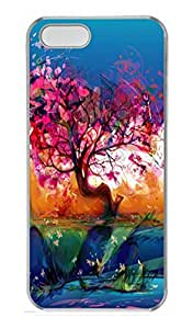 Abstract Tree PC Case Cover for iPhone 5 and iPhone 5S Transparent