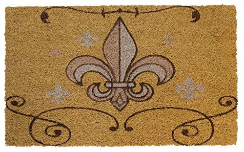 LL Home 70006 Coir Fleur DE LIS Door Mat (Fleur Lis Door De)