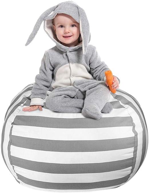 "Children Toy Organizer 38/"" Kid Stuffed Animal Storage Bean Bag Large Chair Cover"
