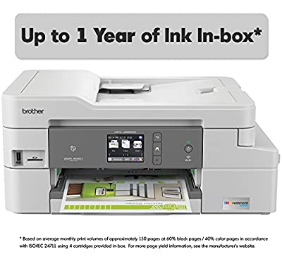 Brother INKvestment Tank Inkjet Printer, MFC-J995DW, Color All-in-One Printer with Mobile Printing and Duplex Printing, Up To 1-Year of Ink In-box