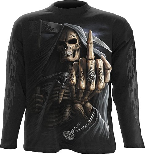 Spiral - Mens - Bone Finger - Longsleeve T-Shirt Black - L