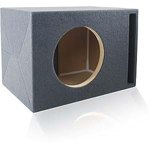 ported mdf subwoofer enclosure for single 12. Black Bedroom Furniture Sets. Home Design Ideas