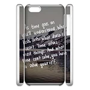 Durable Phone Case 3D iphone6 Plus 5.5 3D Cell Phone Case White Lkyvt Life It Goes On Plastic Durable Cover