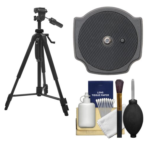 """Precision Design PD-58PVTR 58"""" Photo/Video Tripod with Case with Extra Quick Release Plate + Cleaning Kit for Digital SLR Cameras"""