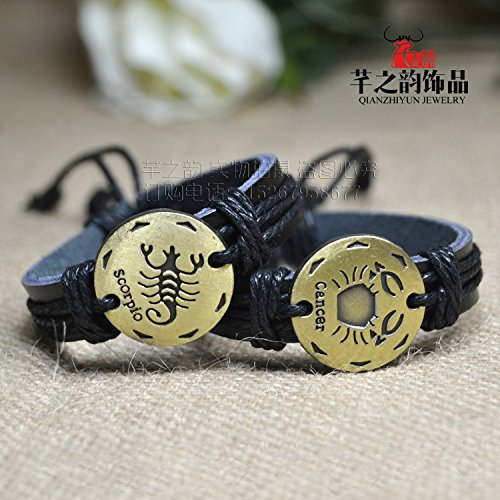 Price comparison product image Zodiac bracelet hand-woven men and women are suitable for couples Aries Taurus GeLeo