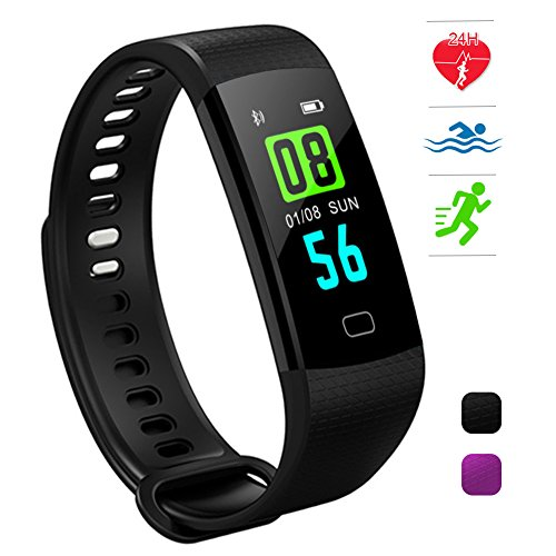 HuaWise Fitness Tracker,Activity Tracker with Heart Rate Monitor and Sleep Monotir,Bluetooth Waterproof Color Screen Smart Watch,Step Counter Pedometer and Calorie Counter for Wome Men Kids
