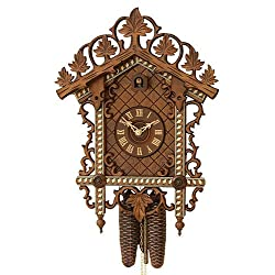 German Antique replica clock 8-day-movement 18.90 inch - Authentic black forest cuckoo clock by Rombach & Haas