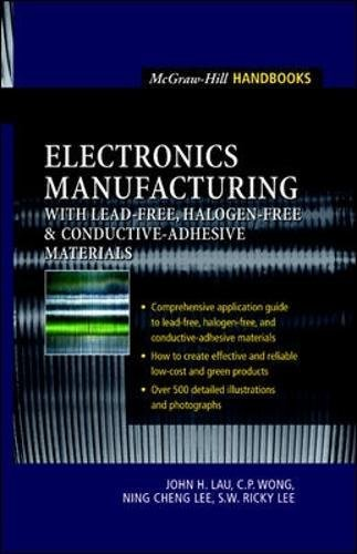 Electronics Manufacturing    With Lead Free  Halogen Free  And Conductive Adhesive Materials