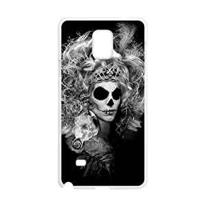 Diy Beautiful Girl Sugar Skull Custom Cover Phone HTC One M7 White Shell Phone [Pattern-2]
