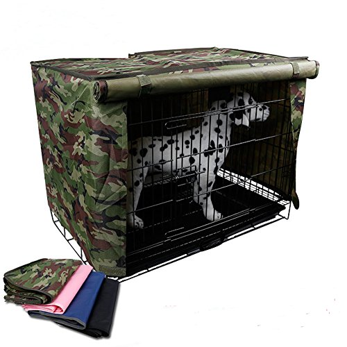 Wire Dog Crate Covers Waterproof Heavy-Duty Canvas Polyester Blend HZC41 (M 60CMx43CMx50CM,...