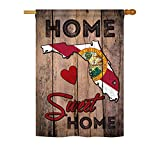 State Florida Home Sweet Home – Americana States Decoration – 28″ x 40″ Impressions House Flag by Ornament Collection – US made Review