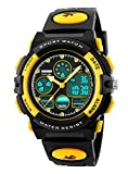 SKMEI Sport Children Students Plastic Band Electronic Military Digital Quartz LED Wristwatches Yellow