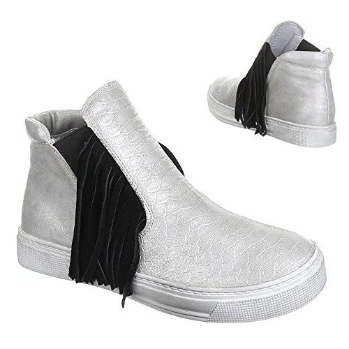 Ital-Design - Zapatillas de Material Sintético para mujer Plateado - plateado