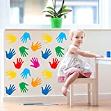 V&C DESIGNS LTD (TM) KIDS COLOUR HANDPRINTS NURSERY Children's Wall Sticker Wall Quote Lettering Vinyl Decal Mural Transfer Baby Nursery Children's Bedroom Toddler Room Geometric Playroom Decoration Wall Decor Boys Room Girls Room Various Colours Available