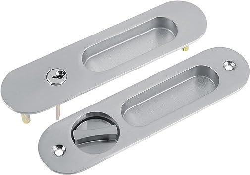 Cerradura de puerta corredera con manija de puerta invisible y 3 ...