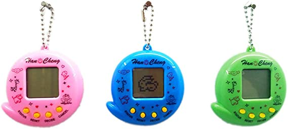 Zerodis Digital Pet Machine Pet Virtual Digital Electronic Game Machine E-pet Handheld Game Machine Toy with Retro Nostalgic Keychain Kids Gift Toys for Christmas Birthday Green