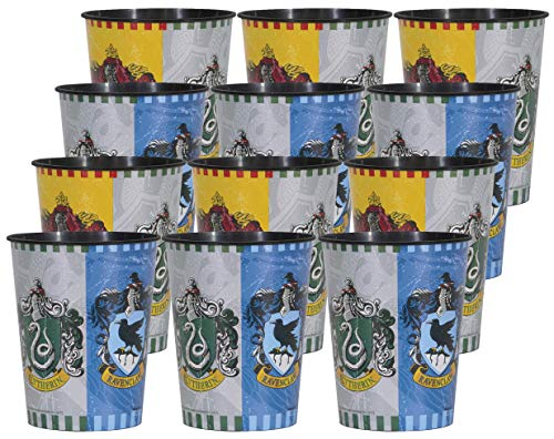 Harry Potter Cups - Harry Potter Birthday Party Supplies Set of 12 16oz Plastic Reusable Favor Cups