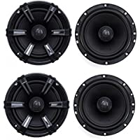 4) MB Quart DK1-116 6.5 280 Watt Discus Black Coaxial Car Audio Speakers Four