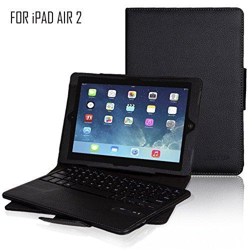 3 opinioni per Apple iPad Air 2-Tastiera Wireless Bluetooth con custodia in pelle, con