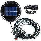 Yescom 48 LED Solar String Light for 10 ft 8 rib Outdoor Patio Offset Aluminum Umbrella (Cool White)