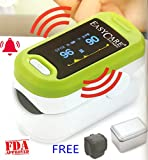 easy care Fingertip Pulse Oximeter With Audio-Visual Alarm