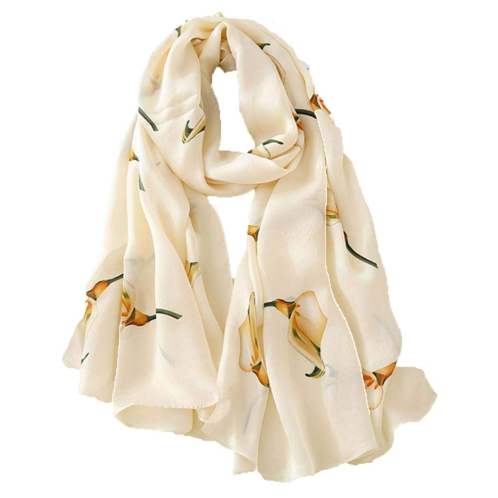 Weiwei Women's Silk Shawl Silk Scarf Light and Breathable Send Friends and Family Friends 180CM65CM