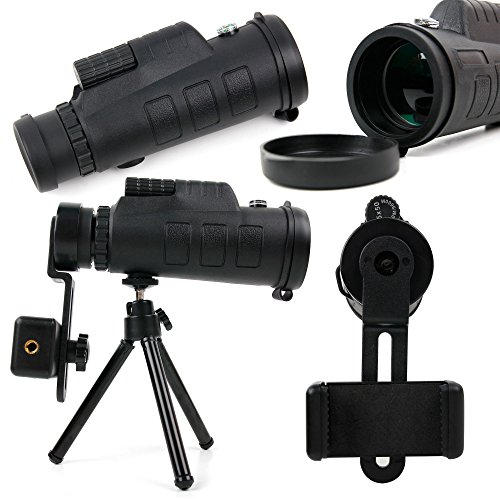 Price comparison product image Telephoto Zoom Lens Kit for Smartphones, with Tripod + Carry Bag - for Blackview A8 Max, Acme, Alife P1 Pro, Arrow, Breeze, BV2000, BV2000s, E7, Omega Pro, omega, Ultra, V3, Zeta - by DURAGADGET