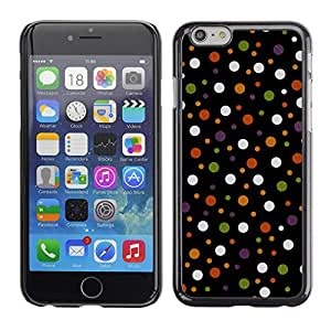 X-ray Impreso colorido protector duro espalda Funda piel de Shell para Apple iPhone 6 Plus(5.5 inches)- Spots Polka Dot Design Fabric Pastel