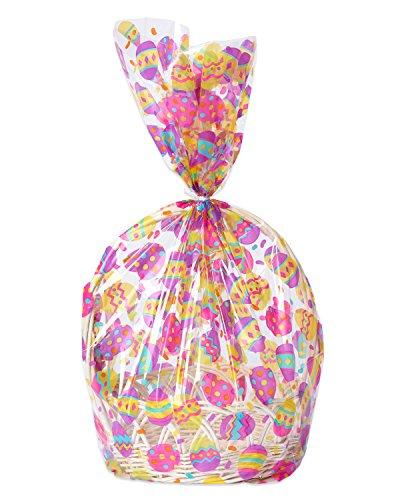 American Greetings 5473315 Easter Egg Basket Bags, 2 Count, Multicolored