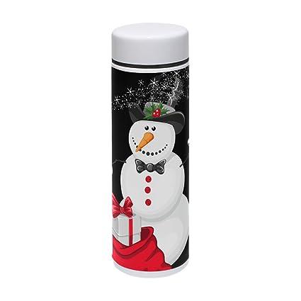 e352262edb3 Amazon.com: Thermal Travel Mug Christmas Snowman Magician Food Grade ...