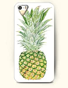 OOFIT Phone Case for Apple iPhone 4/4S -- Green Pineapple -- Oil Painting