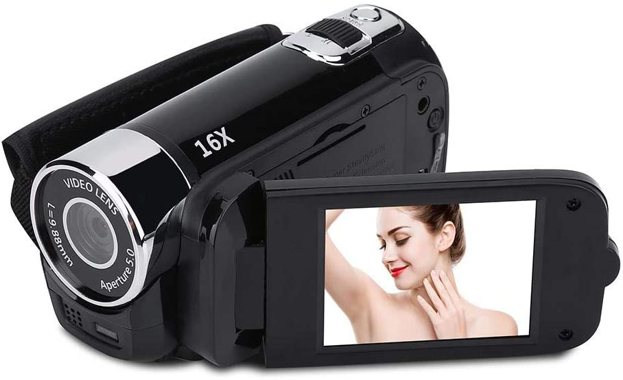 Rouge ASHATA Cam/éscope denregistrement vid/éo Full HD Rotation 270 /° 1080P 16X Cam/éscope num/érique Haute d/éfinition Cam/éra DV vid/éo avec Rotation 270 /° /Écran LCD 2,7 Pouces