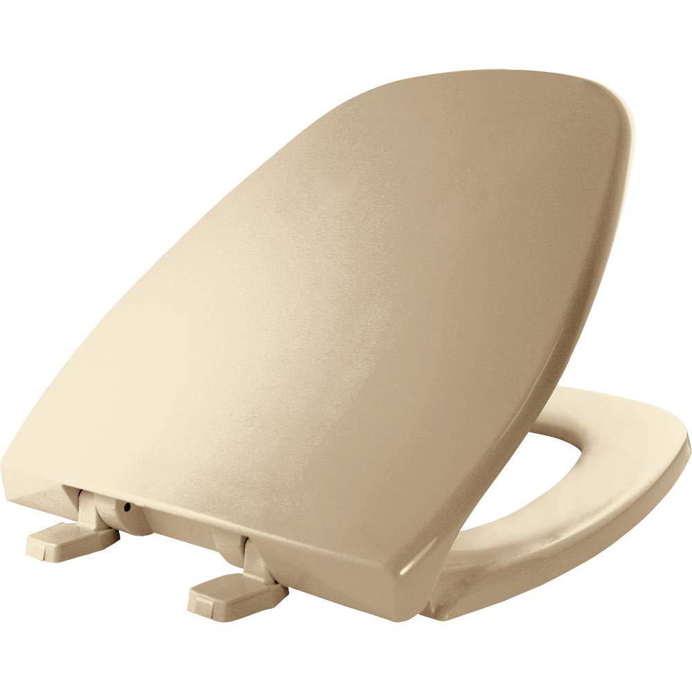 BEMIS 1240200 346 Eljer Emblem Plastic Toilet Seat, ROUND, Biscuit/Linen