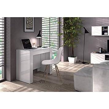 Consola o Mesa Comedor Extensible blanco brillo, 4 en 1,recibidor y ...