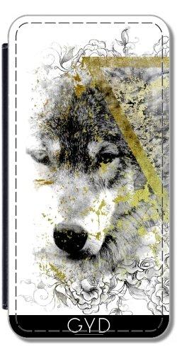 Leder Flip Case Tasche Hülle für Apple Iphone 7 Plus / 8 Plus - Wolf Wölfe Werwolf Fantasie by WonderfulDreamPicture