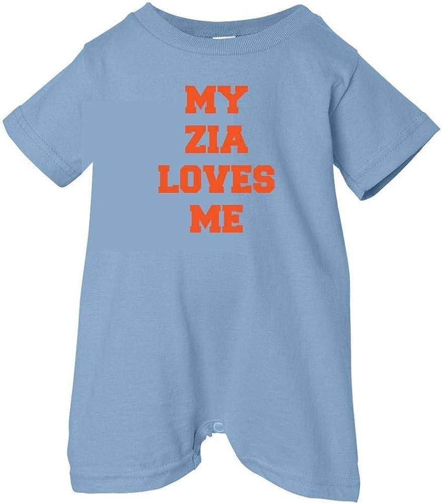 Unisex Baby I Love My Zia T-Shirt Romper So Relative