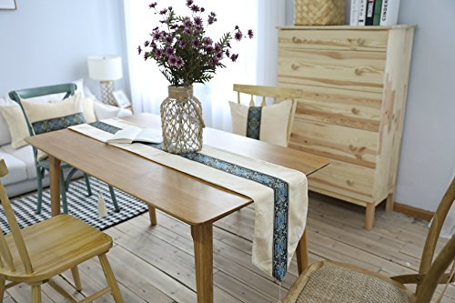 (Belimely European Luxury Gift Mat Table RunnerRetro High-grade Embroidery Cloth Thick Insulation Model Room Decoration Be-TC-6-table)