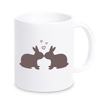 Amazonmugkissing rabbits hearts mug gift for easter easter gift mugquotkissing rabbits hearts mug gift for easter easter gift gift idea negle Image collections