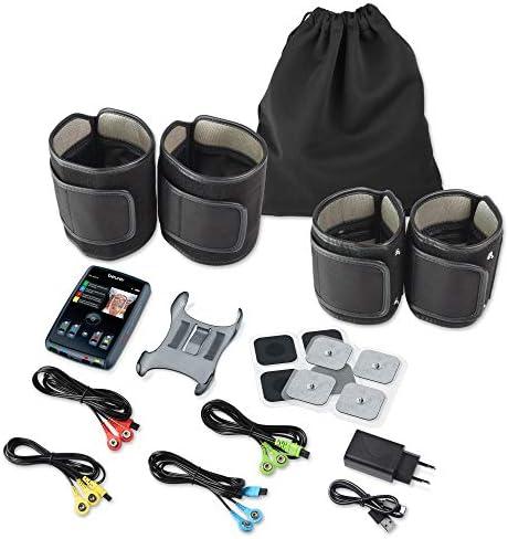 Beurer EM95 Electroestimulador Digital Cuerpo con Bluetooth, EMS, app Homestudio, 4 Canales, Cargador USB, Color Negro