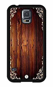 iZERCASE Dark Brown Wood Pattern RUBBER Samsung Galaxy S5 Case - Fits Samsung Galaxy S5 T-Mobile, AT&T, Sprint, Verizon and International