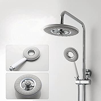 Ul Bathroom Abs Water Saving Round Rainfall Top Shower Set With Hand - Water-saving-set-for-the-bathroom