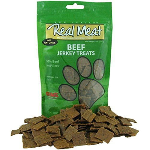 (Real Meat Large Bits Beef Jerky Dog Treats 12oz, Pack of 4 (48oz total))